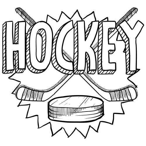 Hockey coloring page for Coloring pages hockey