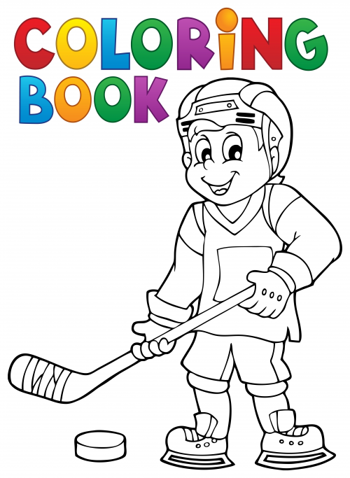 hockey coloring page. Black Bedroom Furniture Sets. Home Design Ideas