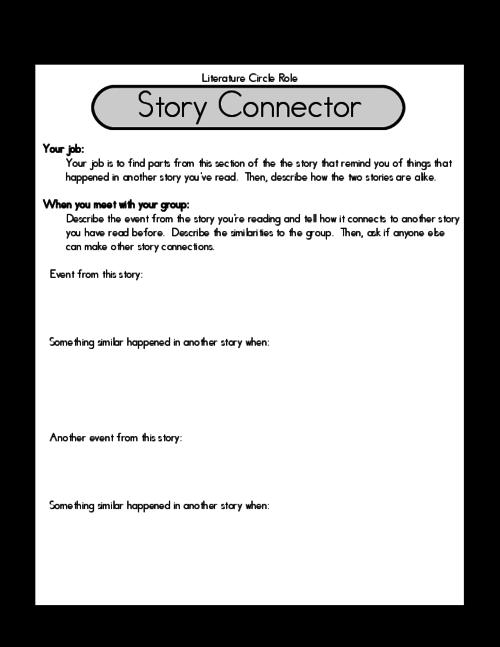 all worksheets literature circle worksheets printable worksheets guide for children and parents. Black Bedroom Furniture Sets. Home Design Ideas