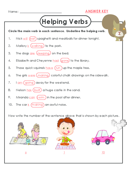 Helping Verbs Worksheets 3rd Grade - Laptuoso