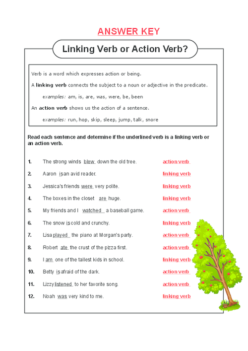 Worksheets Linking Verb Worksheet linking verb or action worksheet delwfg com vs com