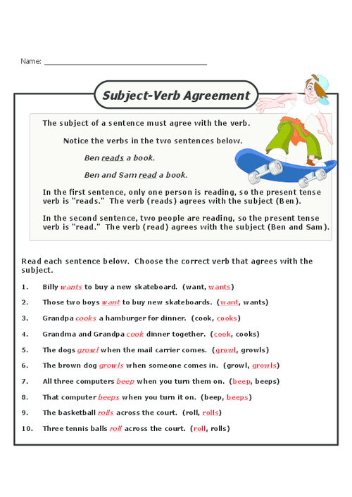 20 rules of subject verb agreement essay Get these 8 grammar mini anchor charts to  primary school persuasive essay topics the top 20  students will review subject-verb agreement rules with.