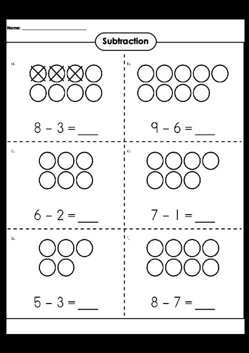 Number Names Worksheets subtraction worksheet with pictures : Beginning Subtraction Worksheets - Pichaglobal