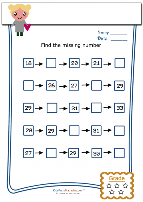 Common Worksheets » Find The Missing Number Worksheets 2nd Grade ...