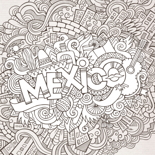 mexican coloring pages for adults cinco de mayo activities