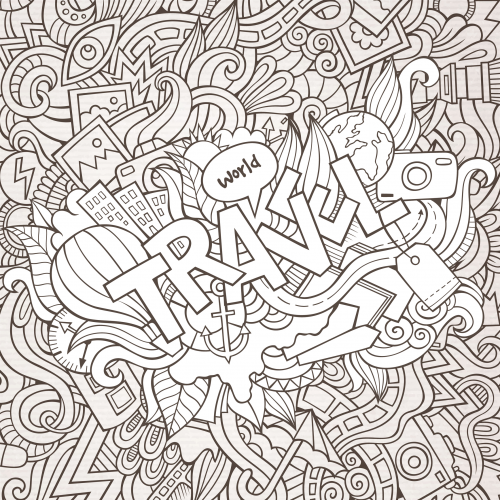 Travel Coloring Pages For Adults