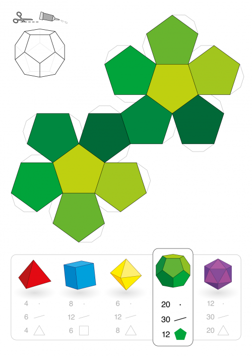 12 Sided 3D Shape - KidsPressMagazine.com