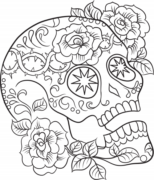 sugar candy skulls coloring pages - photo#35