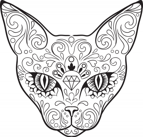 dog sugar skull coloring pages photo19 - Sugar Skull Coloring Page