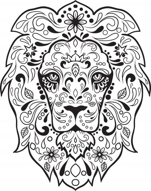 Sugar Skull Advanced Coloring 8 KidsPressMagazine