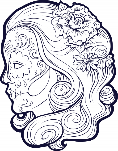 sugar candy skulls coloring pages - photo#29