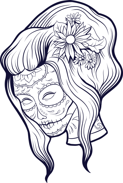 Sugar Skull Advanced Coloring 10 KidsPressMagazine