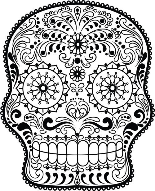 Sugar Skull Advanced Coloring 12  KidsPressMagazinecom