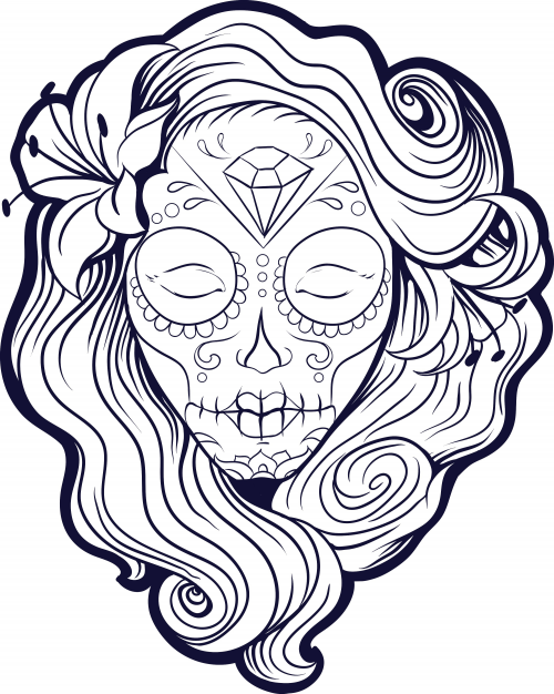 free coloring pages of advanced day of the dead