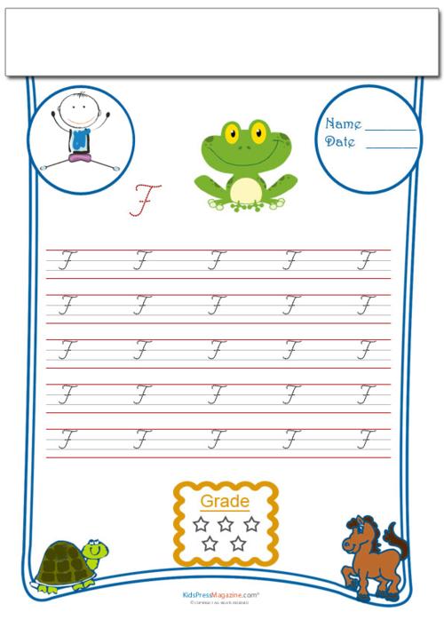 Alphabet F Practice Archives - KidsPressMagazine.com