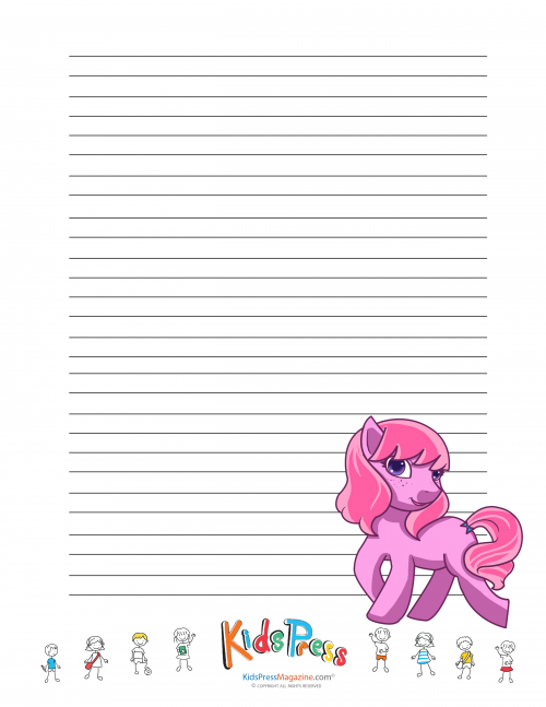Delightful My Little Pony Handwriting Paper