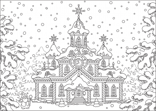 Stress Therapy Holiday Coloring - KidsPressMagazine.com