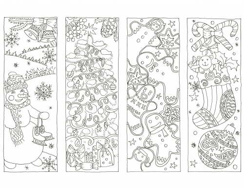 advanced holiday coloring pages - photo#2