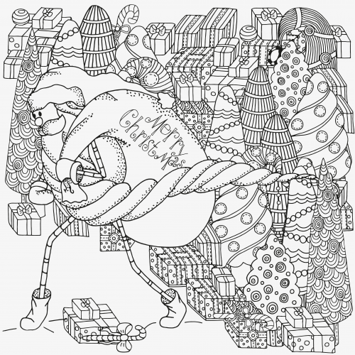 advanced holiday coloring pages - photo#4