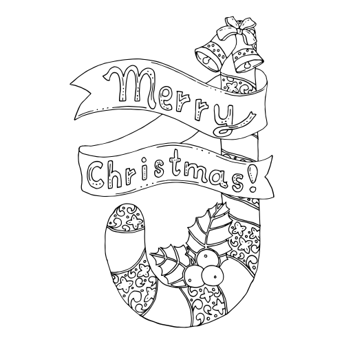 advanced christmas coloring page 7