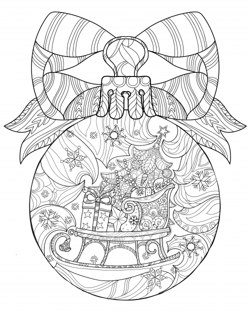 printable stress relief coloring pages - christmas coloring anti stress therapy 19