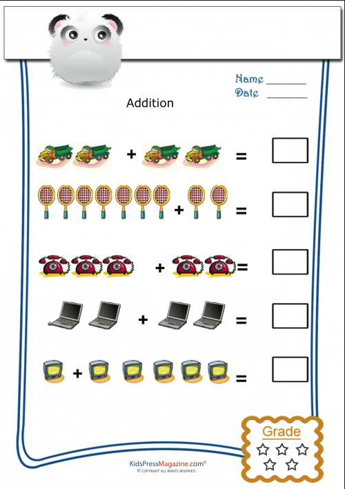 Pictorial Addition For Monday KidsPressMagazine – Pictorial Addition Worksheets