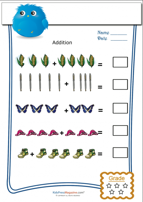 math worksheet : pictorial addition for tuesday  kidspressmagazine  : Pictorial Addition Worksheets