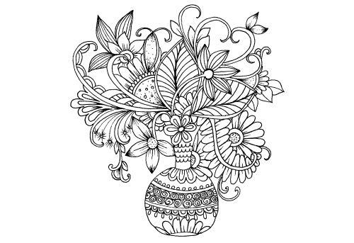 free advanced flower coloring pages - photo#12