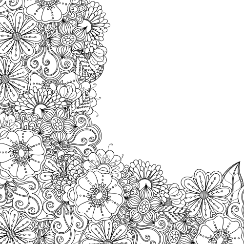 Advanced Flower Coloring Pages 2 | Coloring pages, Flower coloring ... | 500x500