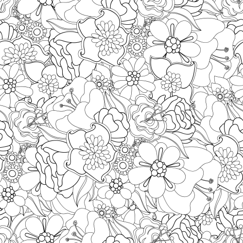 free advanced flower coloring pages - photo#14