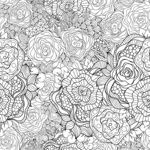 free advanced flower coloring pages - photo#20