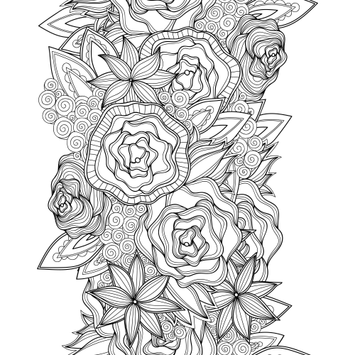 free advanced flower coloring pages - photo#15