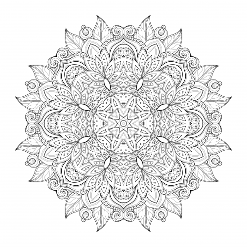 free advanced flower coloring pages - photo#8