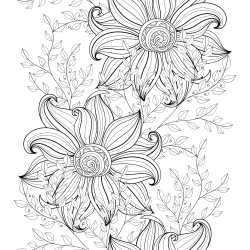 free advanced flower coloring pages - photo#25