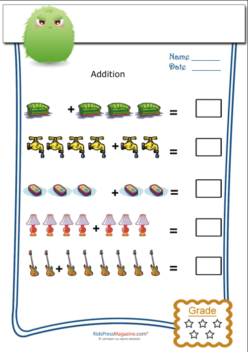 Addition with Pictures Archives KidsPressMagazine – Pictorial Addition Worksheets