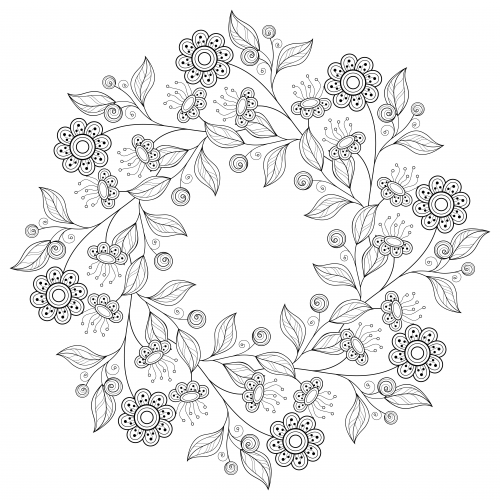 free advanced flower coloring pages - photo#4