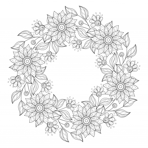 free advanced flower coloring pages - photo#11