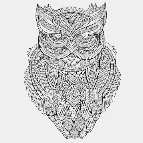 Advanced animal coloring page 4 for Advanced animal coloring pages