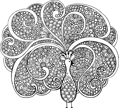 Advanced animal coloring pages 16 for Advanced animal coloring pages