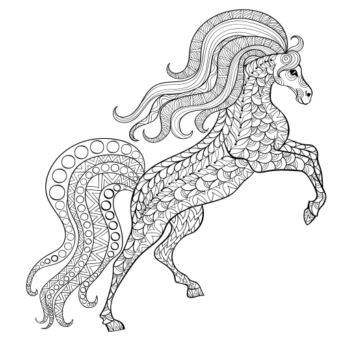 advanced animal coloring page 26