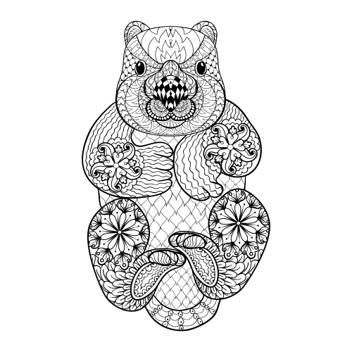 you are going to love these advanced coloring pages you are likely to love their price or lack thereof even more - Otter Coloring Pages