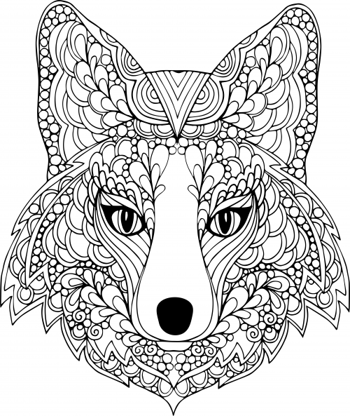 The face of the dog free coloring page for Advanced animal coloring pages