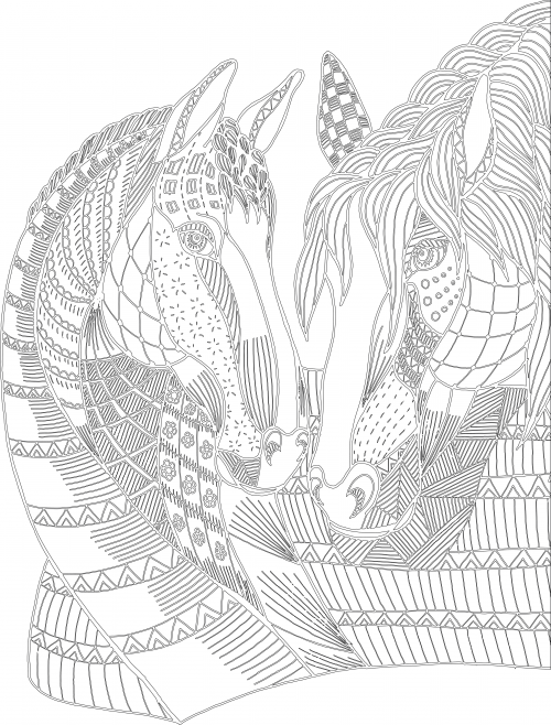 Advanced animal coloring pages for Advanced animal coloring pages