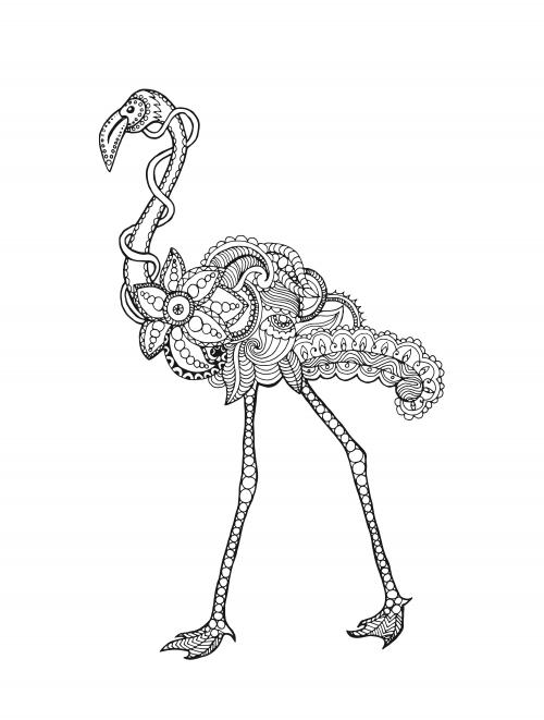 fancy flamingo coloring page  kidspressmagazine