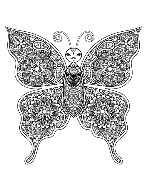 Of Advanced Animal Coloring Pages To Another With Ocean Life And Even Fantasy Themed You Are Sure Find Intricate Artwork That
