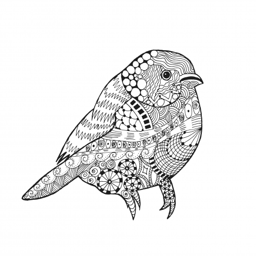 Stress Coloring Pages Animals : Coloring stress relief bird kidspressmagazine
