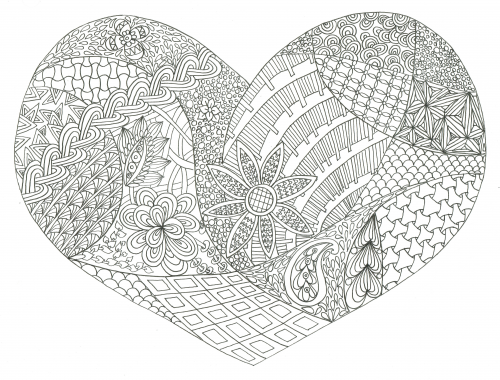 Advanced Valentine Coloring Pages : Valentine s day adult coloring kidspressmagazine