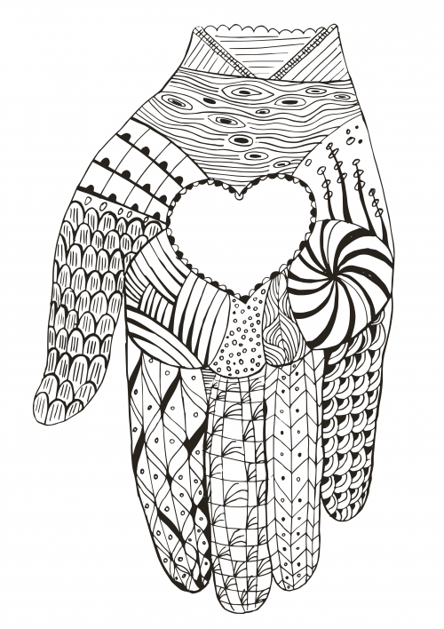 Love in Your Hands Coloring Page - KidsPressMagazine.com