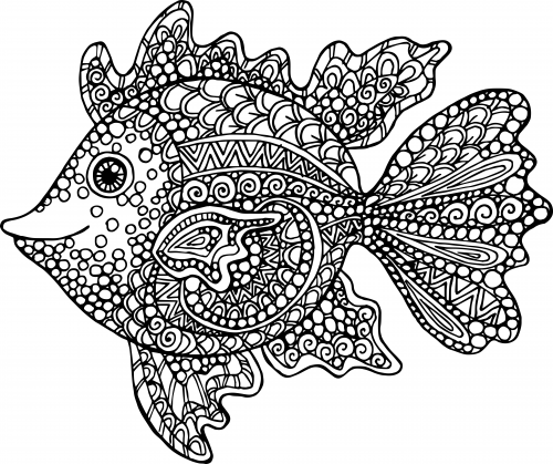 Exotic fish coloring page Coloring books for young adults