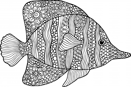 get it now - Goldfish Coloring Page